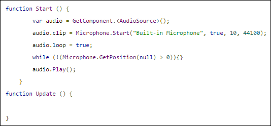 How do I get Unity to playback a Microphone input in real