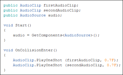 How do I play multiple Audio Sources from one GameObject