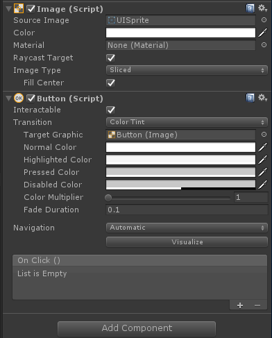 How can I make a UI button light up instead of the default